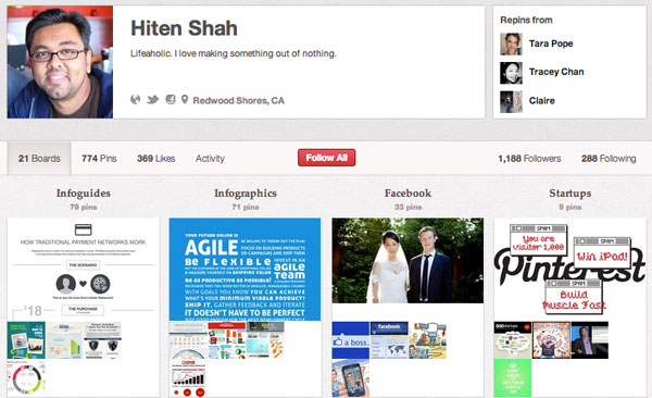 Hiten Shah Social Media Infographics On Pinterest