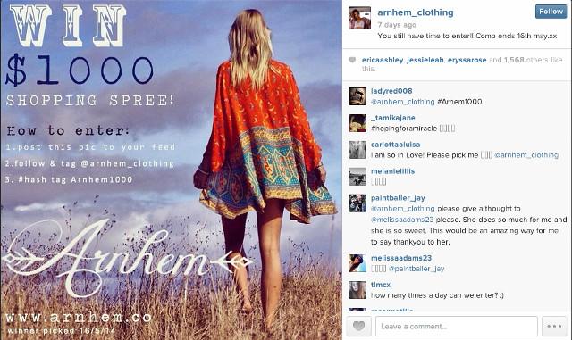 Arnhem Clothing Instagram