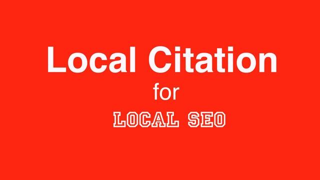 Local SEO and Local Citation