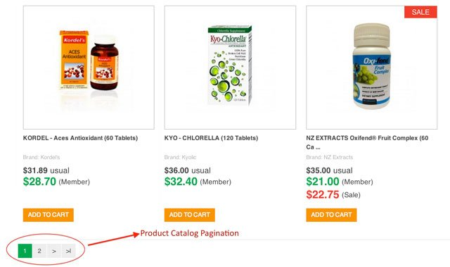 Product Catalog Screenshot